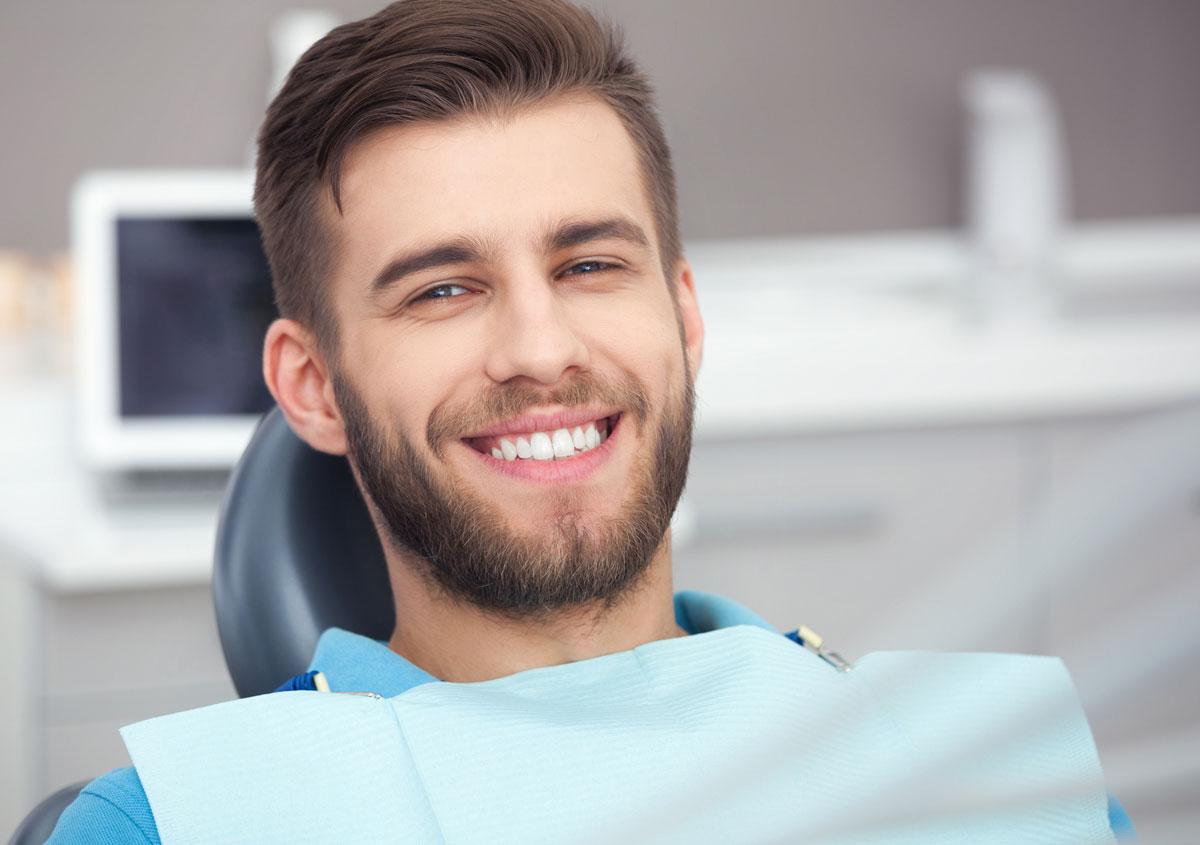 Man at dental office