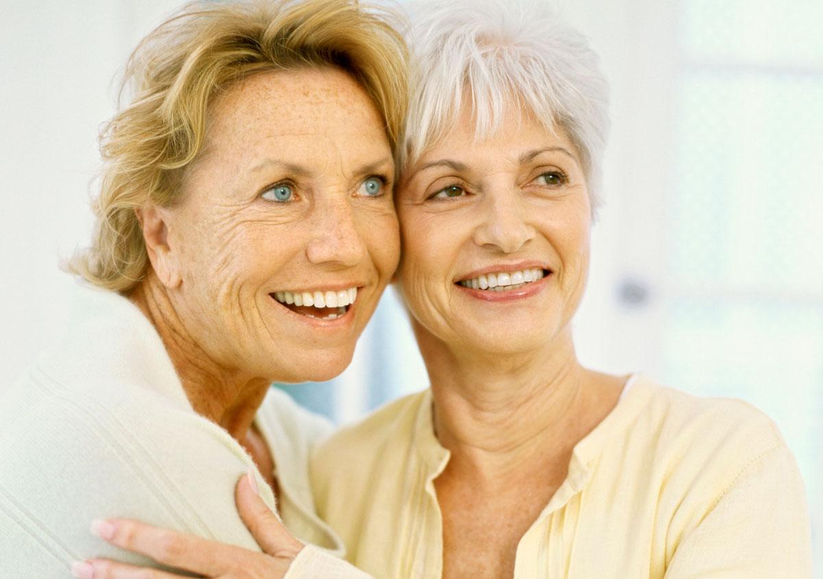 Two senior women